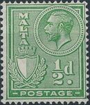 Malta 1926 King George V and Coat of Arms b