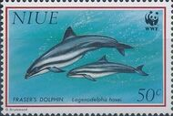 Niue 1993 WWF Dolphins b