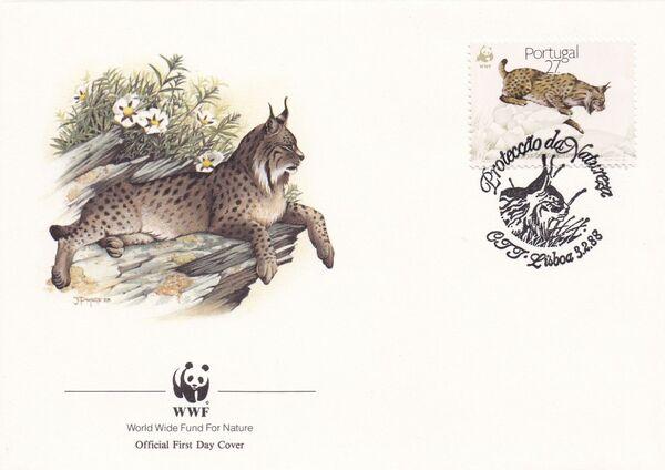 Portugal 1988 WWF Iberian Lynx (Lynx pardina) FDCb