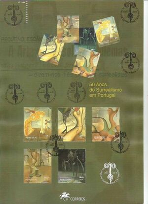 Portugal 1999 50th Anniversary of the Surrealist Group in Lisbon m