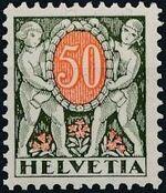 Switzerland 1924 Postage Due Stamps h