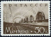 USSR 1938 Opening of the Second line of the Moscow subway f