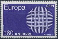Andorra-French 1970 Europa b