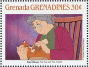 Grenada Grenadines 1988 The Disney Animal Stories in Postage Stamps 2b