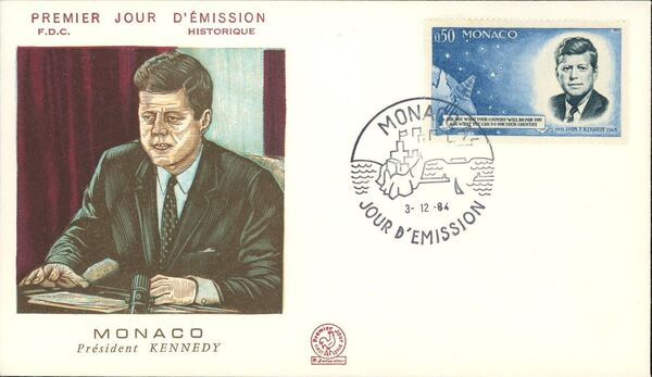 Monaco 1964 Pres. John F. Kennedy and Mercury Capsule i