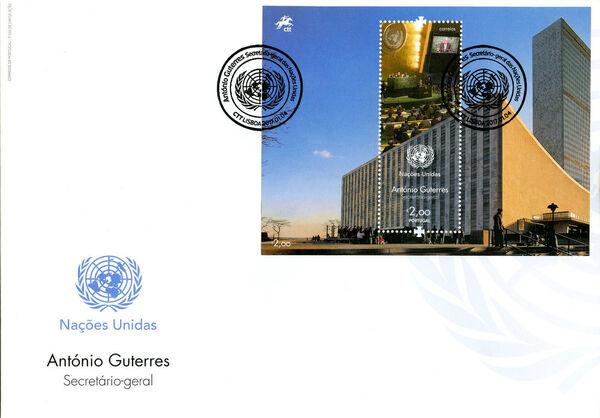 Portugal 2017 António Guterres - UN Secretary-General FDCb