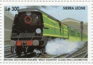 Sierra Leone 1995 Railways of the World 4h
