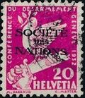 Switzerland 1932 Official Stamps for the International Labor Bureau c