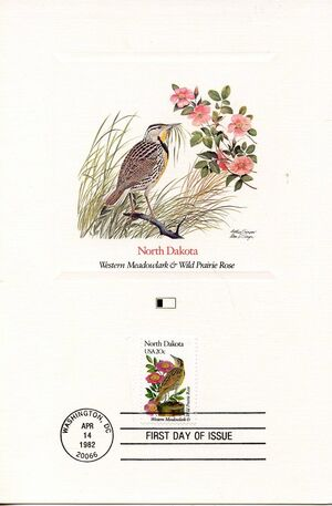 United States of America 1982 State birds and flowers FOLd7