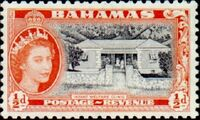Bahamas 1954 Queen Elisabeth II and Landscapes Issue a