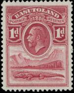 Basutoland 1933 George V, Crocodile and River Scene b