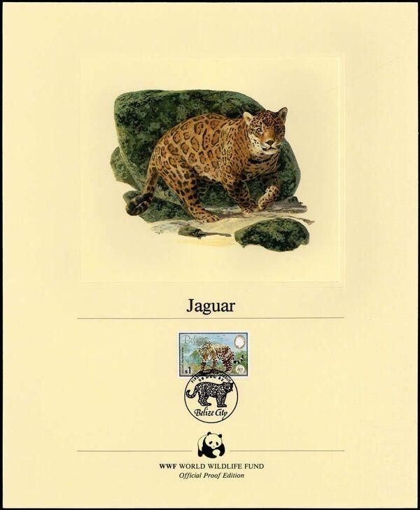 Belize 1983 WWF - Jaguar OPEd
