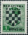 Croatia 1941 Peter II of Yugoslavia Overprinted in Black c