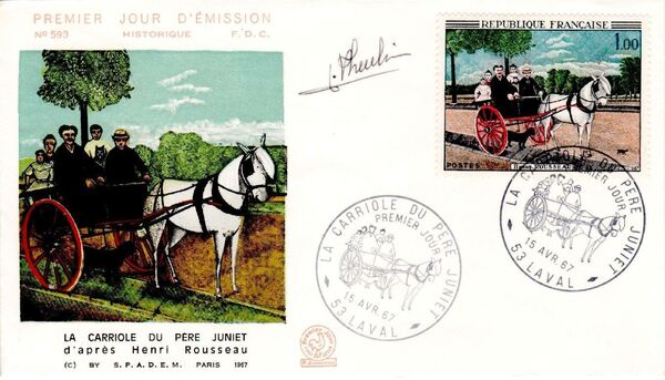 France 1967 French Art (1967-1) FDCb