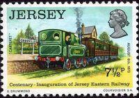 Jersey 1973 Centenary of Jersey Eastern Railway c