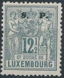 Luxembourg 1882 Industry and Commerce Overprinted f