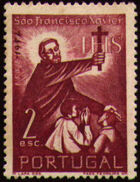 Portugal 1952 400th Anniversary of the Death of St. Francis Xavier b