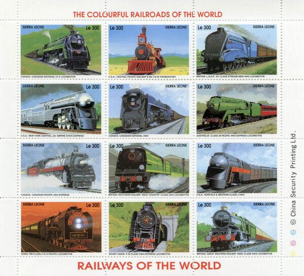 Sierra Leone 1995 Railways of the World Sd