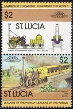 St Lucia 1983 Leaders of the World - LOCO 100 h