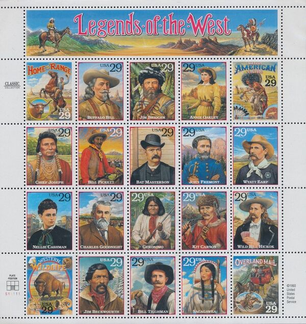 United States of America 1994 Legends Of The West Sa