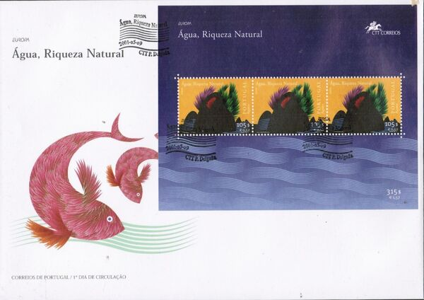Azores 2001 EUROPA - Water, natural wealth FDCb