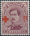 Belgium 1918 King Albert I (Red Cross Charity) f