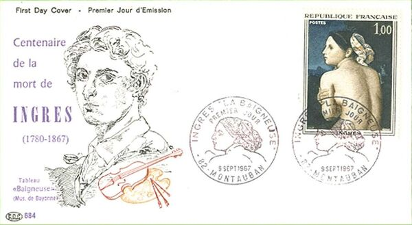 France 1967 French Art (1967-3) FDCd