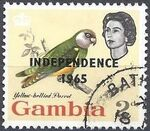 Gambia 1965 Birds Overprinted d