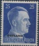German Occupation-Russia Ostland 1941 Stamps of German Reich Overprinted in Black m