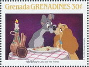 Grenada Grenadines 1988 The Disney Animal Stories in Postage Stamps 5f