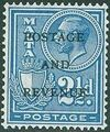 Malta 1928 George V and Coat of Arms Ovpt POSTAGE AND REVENUE h.jpg