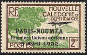 New Caledonia 1933 Definitives of 1928 Overprinted b