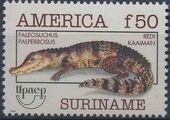 Surinam 1993 Endangered Animals - Cuvier's Dwarf Caiman a