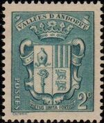 Andorra-French 1937 Coat of arms of Andorra b