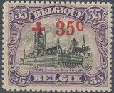 Belgium 1918 King Albert I (Red Cross Charity) h