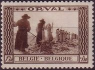 Belgium 1939 Restoration of Orval Abbey c