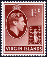 British Virgin Islands 1938 George VI and Seal of the Colony c