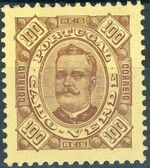 Cape Verde 1893-1895 Carlos I of Portugal j