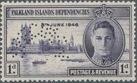Falkland Islands 1946 Peace Issue SPa