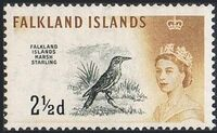 Falkland Islands 1960 Queen Elizabeth II and Birds d