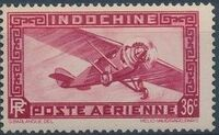 Indo-China 1933 Airmail - With Inscription RF h