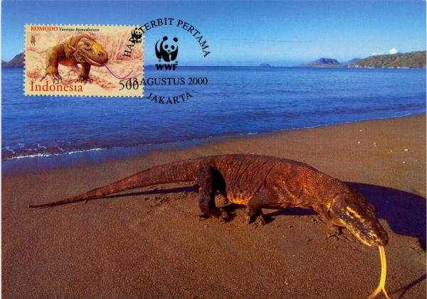 Indonesia 2000 WWF Komodo Dragon w