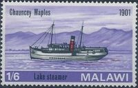 Malawi 1967 Steamers on Lake Malawi c