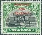 Malta 1928 Definitives of 1926-1927 Ovpt POSTAGE AND REVENUE f