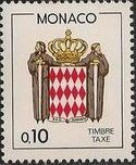 Monaco 1985 National Coat of Arms - Postage Due Stamps (1st Group) b