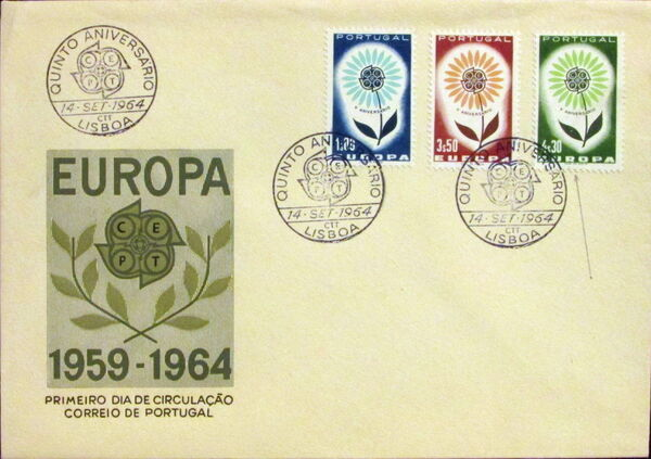 Portugal 1964 Europa FDCa