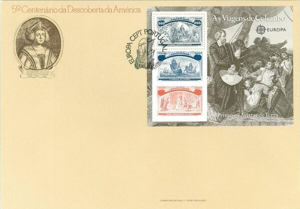 Portugal 1992 EUROPA - 5th Centenary of Discovery of America FDCc