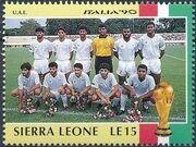 Sierra Leone 1990 Football World Cup in Italy b