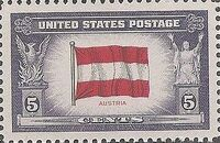United States of America 1943 Overrun Countries Issue k
