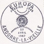 Andorra-French 1967 Europa PSMa